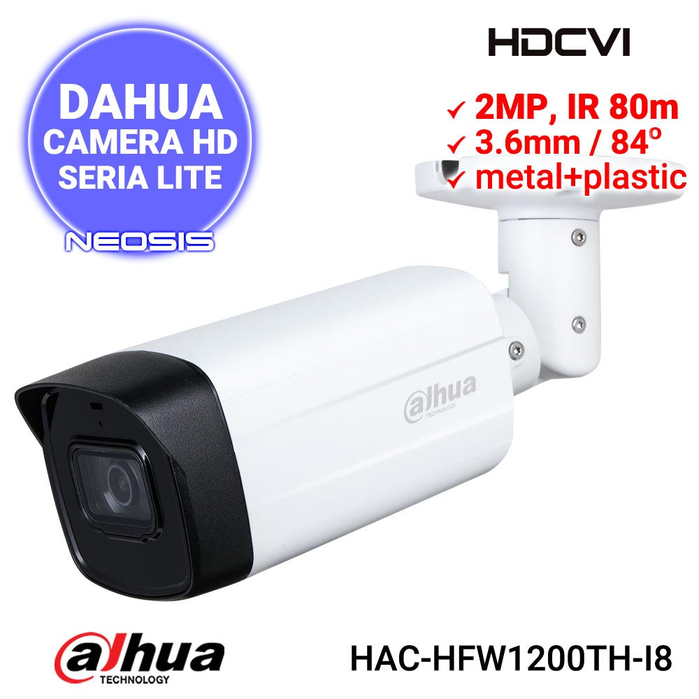 Camera supraveghere DAHUA HAC-HFW1200TH-I8 - 2MP, IR 80m
