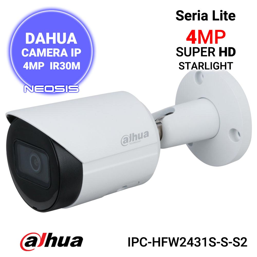 Camera IP 4MP Starlight DAHUA IPC-HFW2431S-S-S2