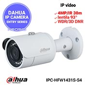 Camera IP DAHUA IPC-HFW1431S-S4 - 4MP/Super HD, IR 30m, lentila 93grd