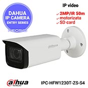 Camera IP DAHUA IPC-HFW1230T-ZS-S4 - Full HD, lentila motorizata