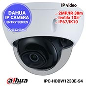 Camera IP DAHUA IPC-HDBW1230E-S4 - Full HD, antivandal