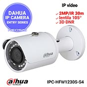 Camera IP DAHUA IPC-HFW1230S-S4 - Full HD, IR 30m, lentila 105grd
