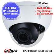 Camera IP DAHUA IPC-HDBW1230R-ZS-S4 - Full HD, motorizata, SD card, IK10