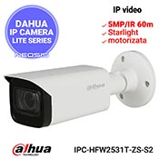Camera IP DAHUA IPC-HFW2531T-ZS-S2 - 5MP, Starlight, motorizata