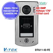 Camera videointerfon 2Easy VIDEO-TECH DT611-ID-FE - HD 2MP, cititor proxi