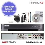 DVR 4 canale 5MP HIKVISION DS-7204HUHI-K1