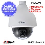 Camera speed dome DAHUA SD50225-HC-LA - 2MP, Starlight